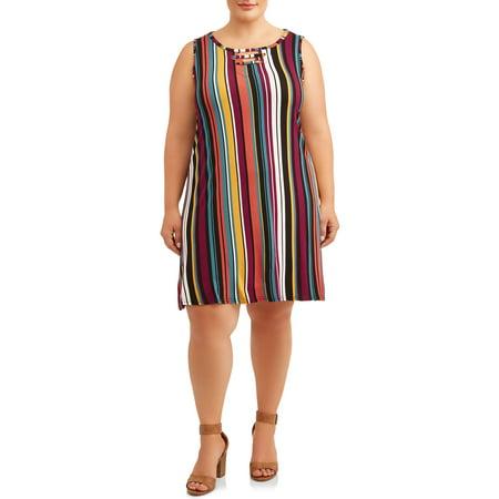 Greek Goddess Dresses (Goddess Women's Plus Size Sleeveless T-Shirt Dress with Cut Out)
