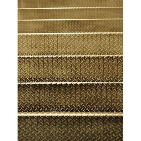 Multi Surface Adhesive Gel (Peel-n-Stick Poster of Steel Surface Step Ladder Floor Mat Ladder Metal Poster 24x16 Adhesive Sticker Poster)
