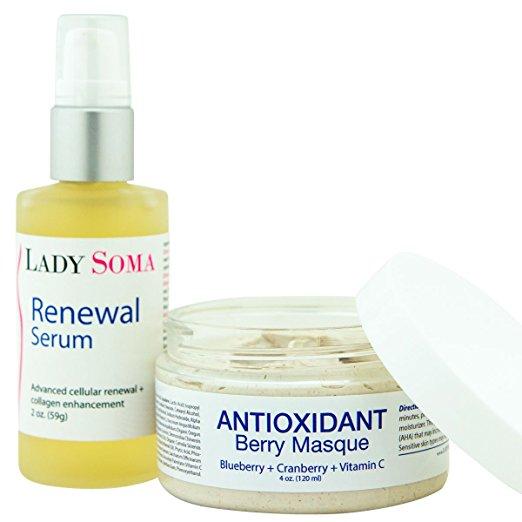 Exfoliate & Renew Facial Kit - Certified organic ingredie...