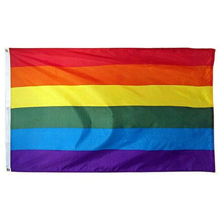 Rainbow Flag Gay Pride Lesbian Banner Striped Event Pennant LGBT Sign New 3x5](Banner Flag)