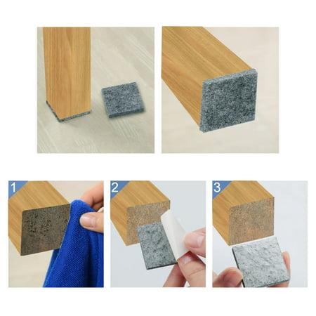 "Felt Furniture Pad Square 7/8"" Self Adhesive Anti-scratch Floor Protector 30pcs - image 7 of 7"