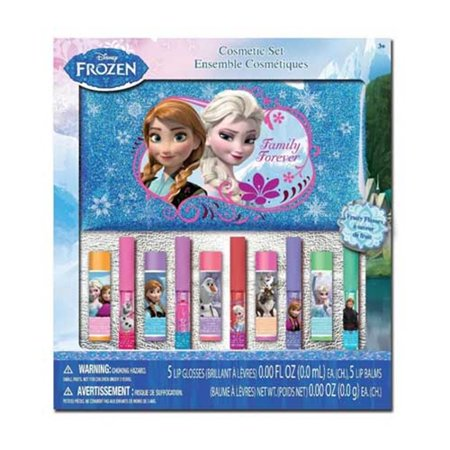 Frozen Makeup (Disney Frozen Lip Balm and Lip Gloss with Cosmetic Bag in Window)