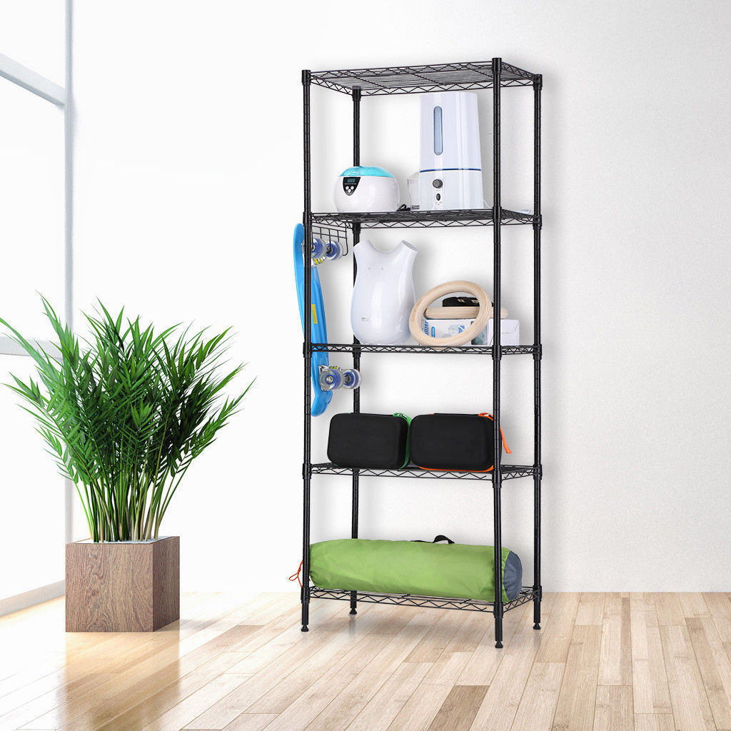 zimtown wire shelving 5 tier metal storage rack shelf 5 shelf rh walmart com shelf unit for kitchen shelving unit for kitchen wall