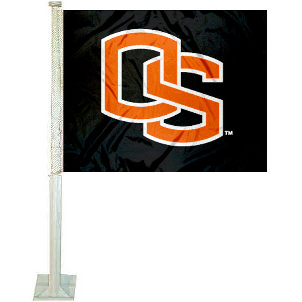 "Oregon State University 12"" x 15"" Car Flag"