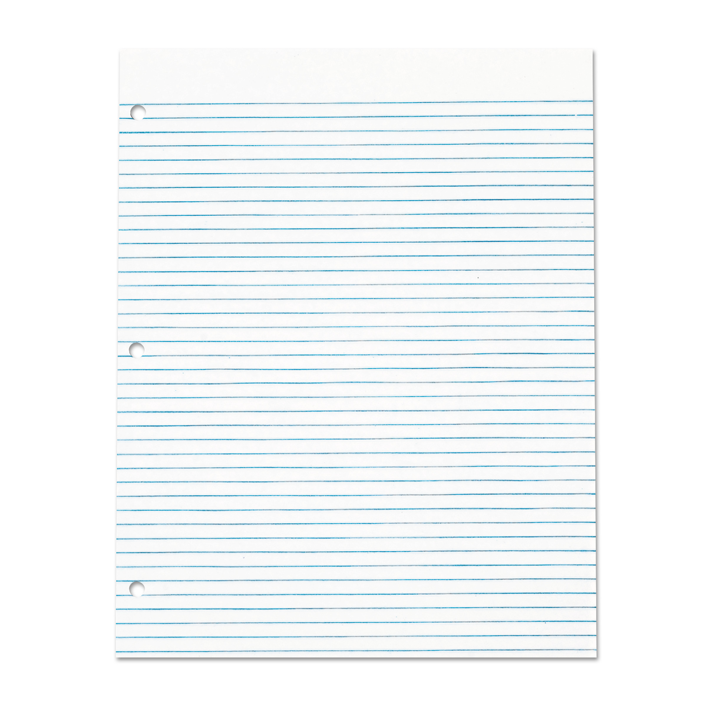 TOPS Three Hole Punched Pad, Narrow Rule, 8 1/2 x 11, White, 50 Sheets/Pack, Dz. -TOP7521