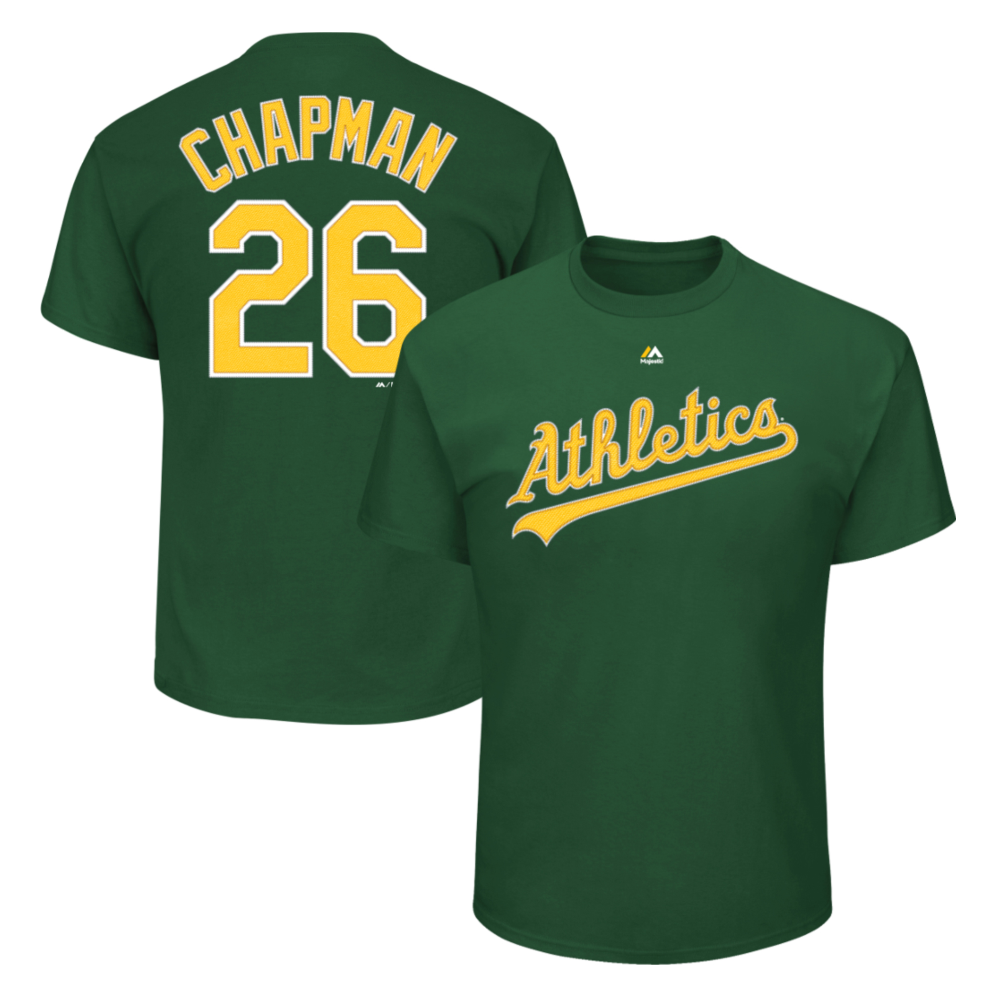 Matt Chapman Oakland Athletics Majestic Official Name and Number T-Shirt - Green