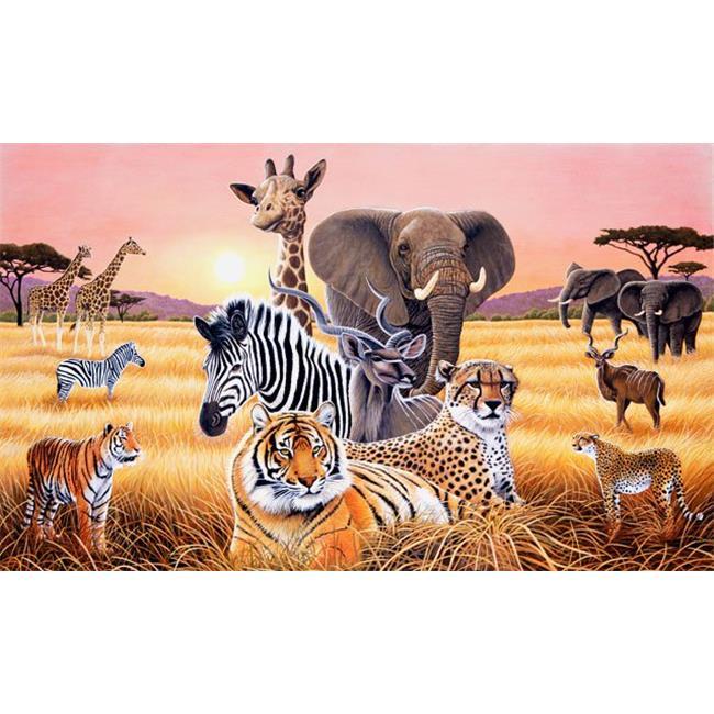 environmental graphics c871 safari ii wall mural walmart com environmental graphics wall murals large format printing