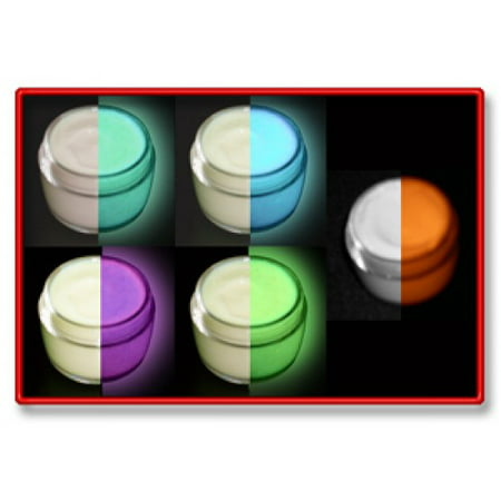 5 Color Daytime Invisible Glow in the Dark Paint Set-15ml pots - Glow In The Dark Colors