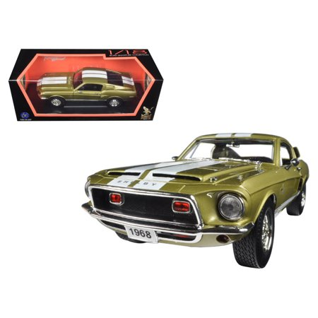 1968 Ford Shelby Mustang GT500KR Gold 1/18 Diecast Car Model by Road