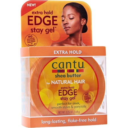 Cantu Shea Butter for Natural Hair Edge Stay Gel, Extra Hold 2.25 oz (Pack of