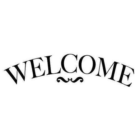 Welcome Stencil by StudioR12| Traditional Serif Arched