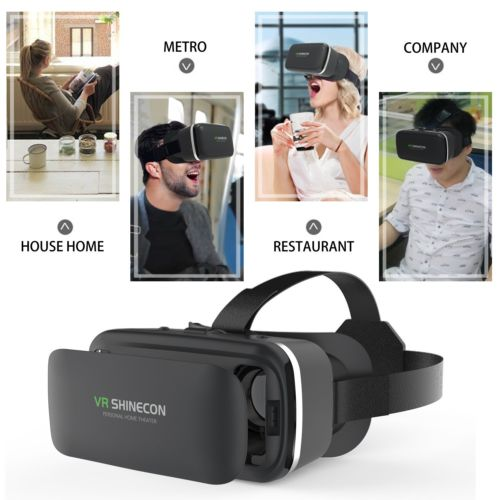VR Shinecon Reality Headset Glasses Compatible with iOS, Android Smartphone