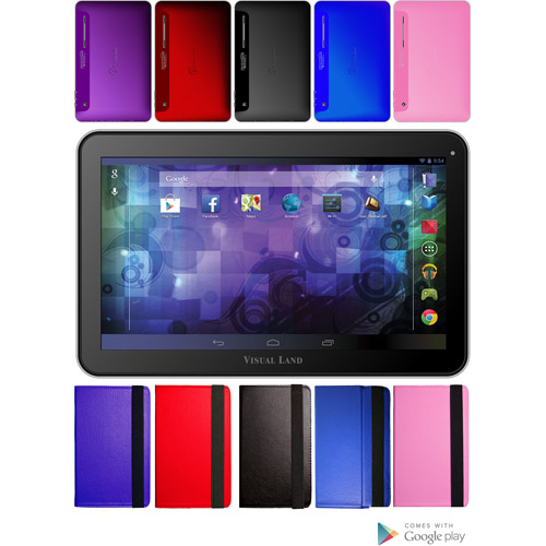 "Visual Land Prestige Pro 10.1"" Tablet 16GB Memory Dual Core Bonus Case"