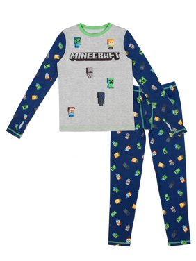 Minecraft Poly Spandex Top and Pant Thermal Underwear Set, (Little Boys & Big Boys)