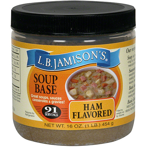 L.B. Jamison's Ham Flavored Soup Base, 16 oz (Pack of 6)