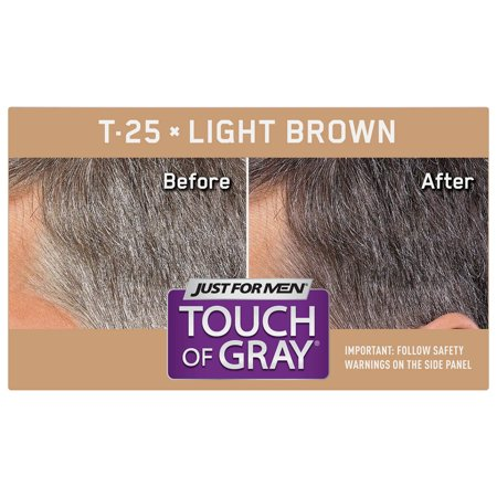 Just For Men Touch Of Gray Easy S Hair Color With Comb In Licator Light Brown Shade T 25