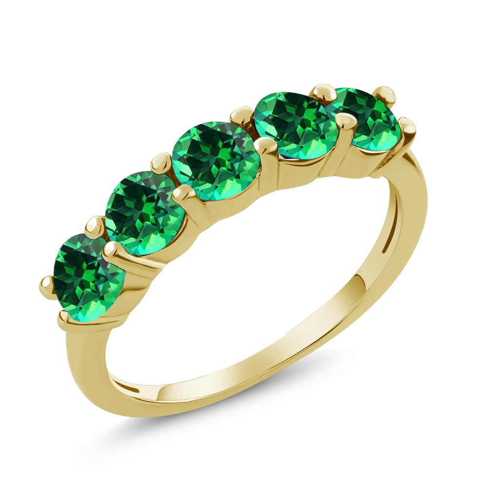 925 Yellow Gold Plated Silver Ring Set with Rainforest Topaz from Swarvoski by