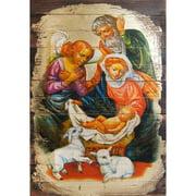 G Debrekht Inspirational Icon Nativity Block Painting
