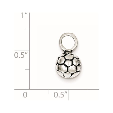 925 Sterling Silver Antiqued Soccer Ball (20x25mm) Pendant / Charm - image 1 of 2
