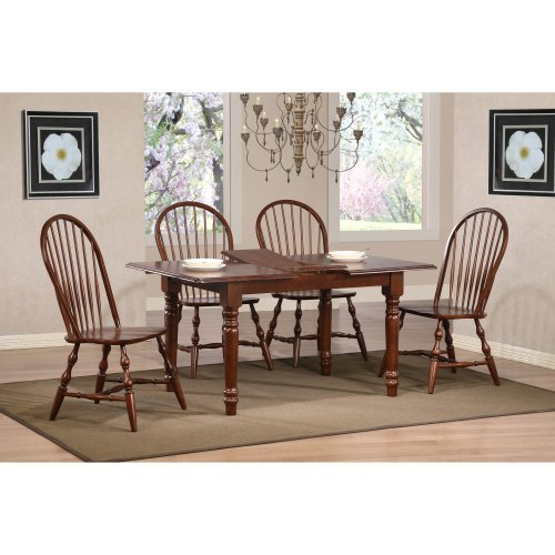 Sunset Trading Windsor Spindleback Dining Chairs - Set of 2 - Chestnut
