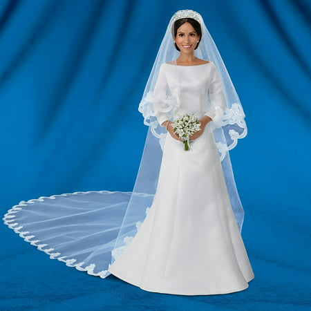 The Ashton-Drake Galleries Meghan Markle Porcelain Bride Collector Doll with Swarovski Tiara (Porcelain Doll Halloween)