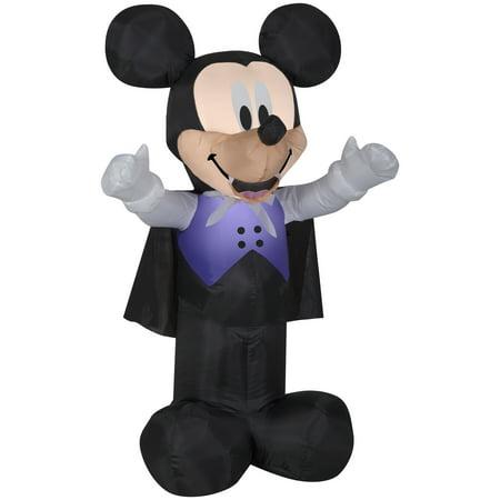 3.5' Airblown Vampire Mickey in Purple Vest Halloween Inflatable