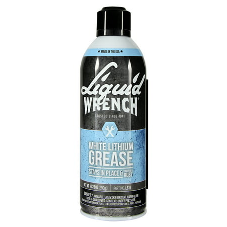 - LIQUID WRENCH White Lithium Grease, 10.5 oz, Aerosol Can