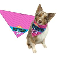 Pink Happy Birthday Bandana-Female Dog or Puppy-Perfect Canine Gift (MED to LRG)
