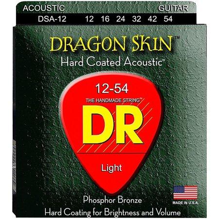 DR Strings DSA-12 Dragon Skin K3 Coated Acoustic Strings Medium Dragon Skin Coated Light
