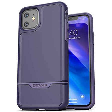 Encased Heavy Duty iPhone 11 Protective Case Purple (2019 Rebel Armor) Military Grade Full Body Rugged Cover - image 5 of 5