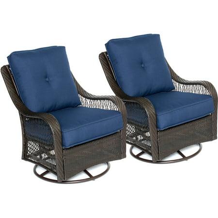Remarkable Hanover Orleans Outdoor Swivel Rocking Lounge Chairs Inzonedesignstudio Interior Chair Design Inzonedesignstudiocom