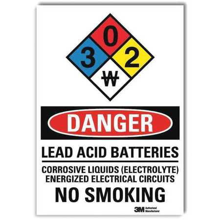 LYLE Danger Sign,Self-Adhesv Mount,7inWx10inH, U3-2083-RD_7X10
