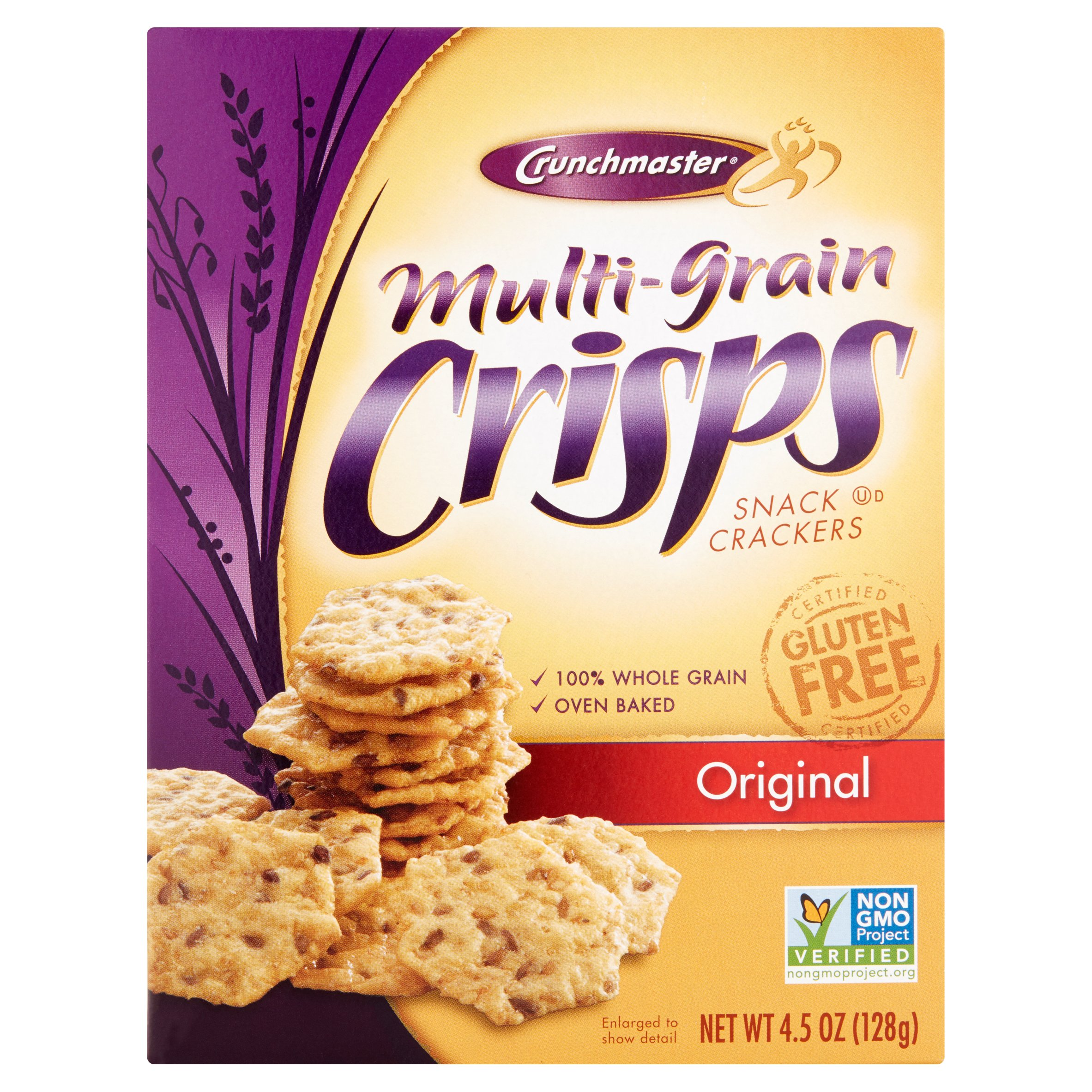 Crunchmaster Original Multi Grain Crisps Crackers, 4.5 oz by TH Foods, Inc.,