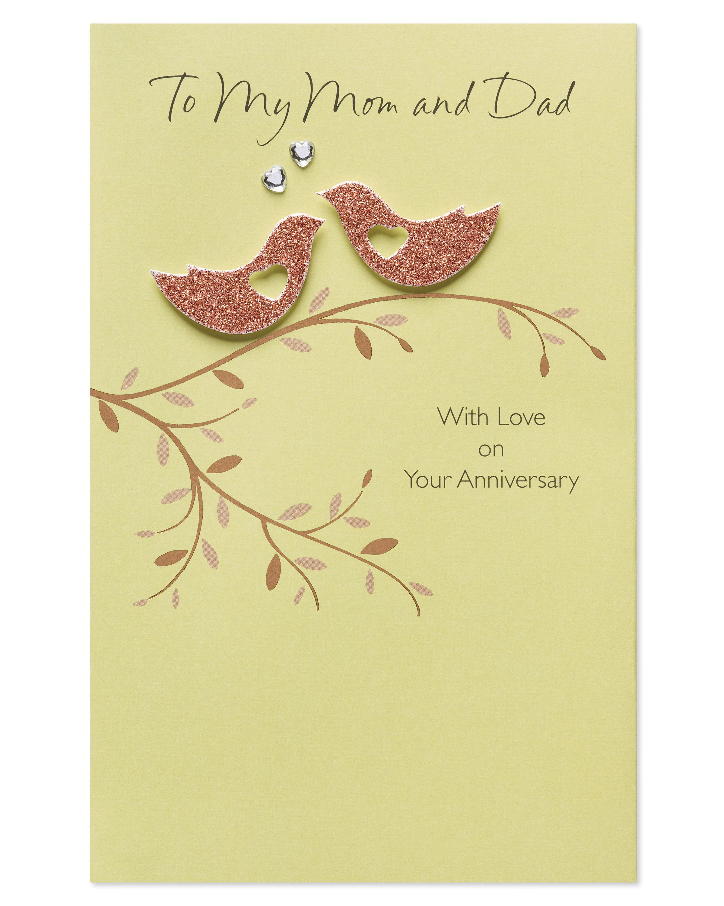 American Greetings Birds Anniversary Card For Parents With