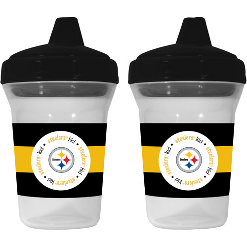 Baby Fanatic Pittsburgh Steelers 2-Pack Sippy Cup, BPA-Free