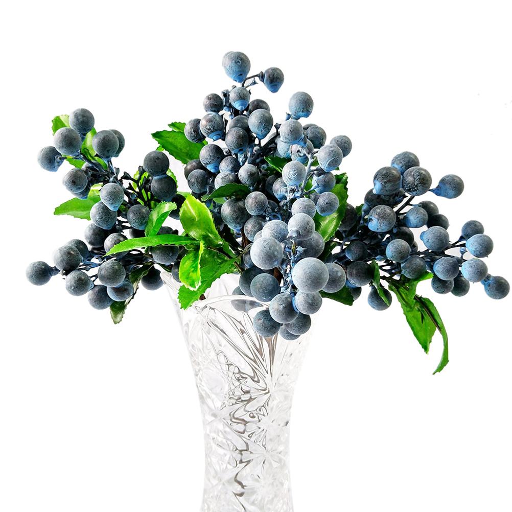 Single Bean Simulation Flower Plant Fake Flower Berry Blueberry Home DIY Decor