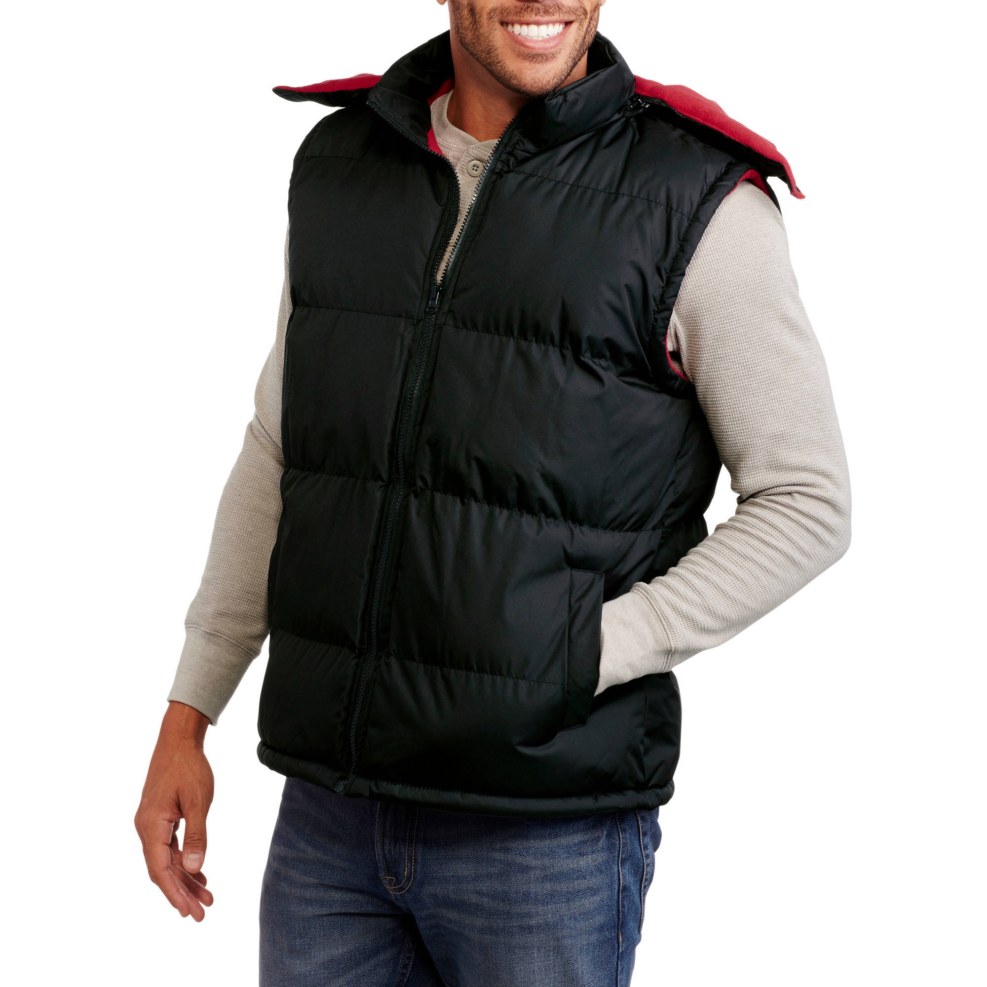 Climate Concepts Men's Polar Fleece Lined Hooded Vest