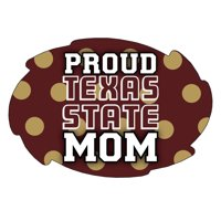 "Texas State Bobcats NCAA Collegiate Trendy Polka Dot Proud Mom 5"" x 6"" Swirl Decal Sticker"