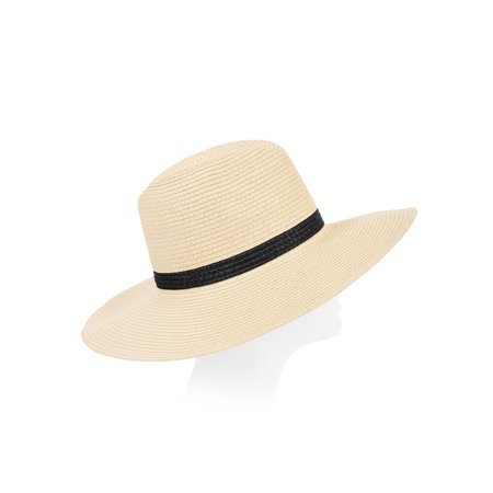 Eliza May Rose Women's Two Color Continental Straw Sunhat