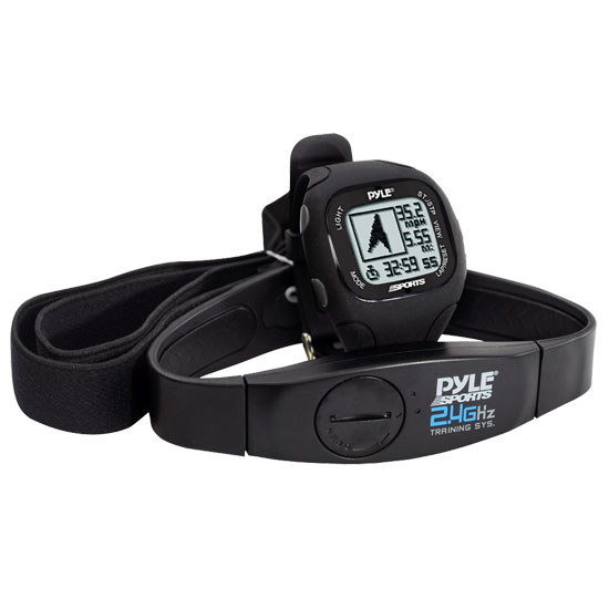 Pyle - GPS Watch w/ Coded Heart Rate Transmission, Navigation, Speed, Distance,