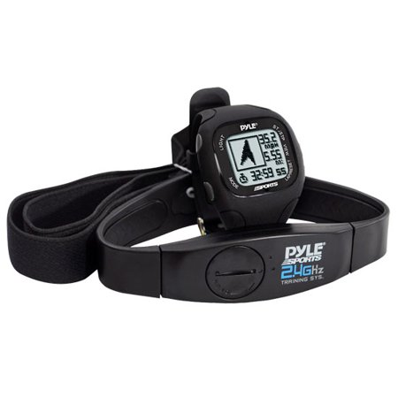 Pyle - GPS Watch w/ Coded Heart Rate Transmission, Navigation, Speed, Distance, Workout Memory, Compass, PC link (Black Color)