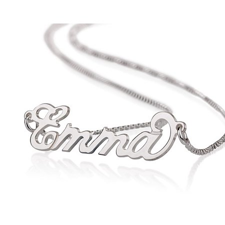 Sterling Silver Personalized Name Necklace - Custom Made Any Name Custom Made Body Jewelry