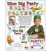 ScrapSMART Dino Dig Party CD-ROM, Decorations, Crafts, Scrapbook and Coloring Pages