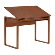Studio Designs Ponderosa Wood Drawing Table with Tilt in Sonoma Brown #13285