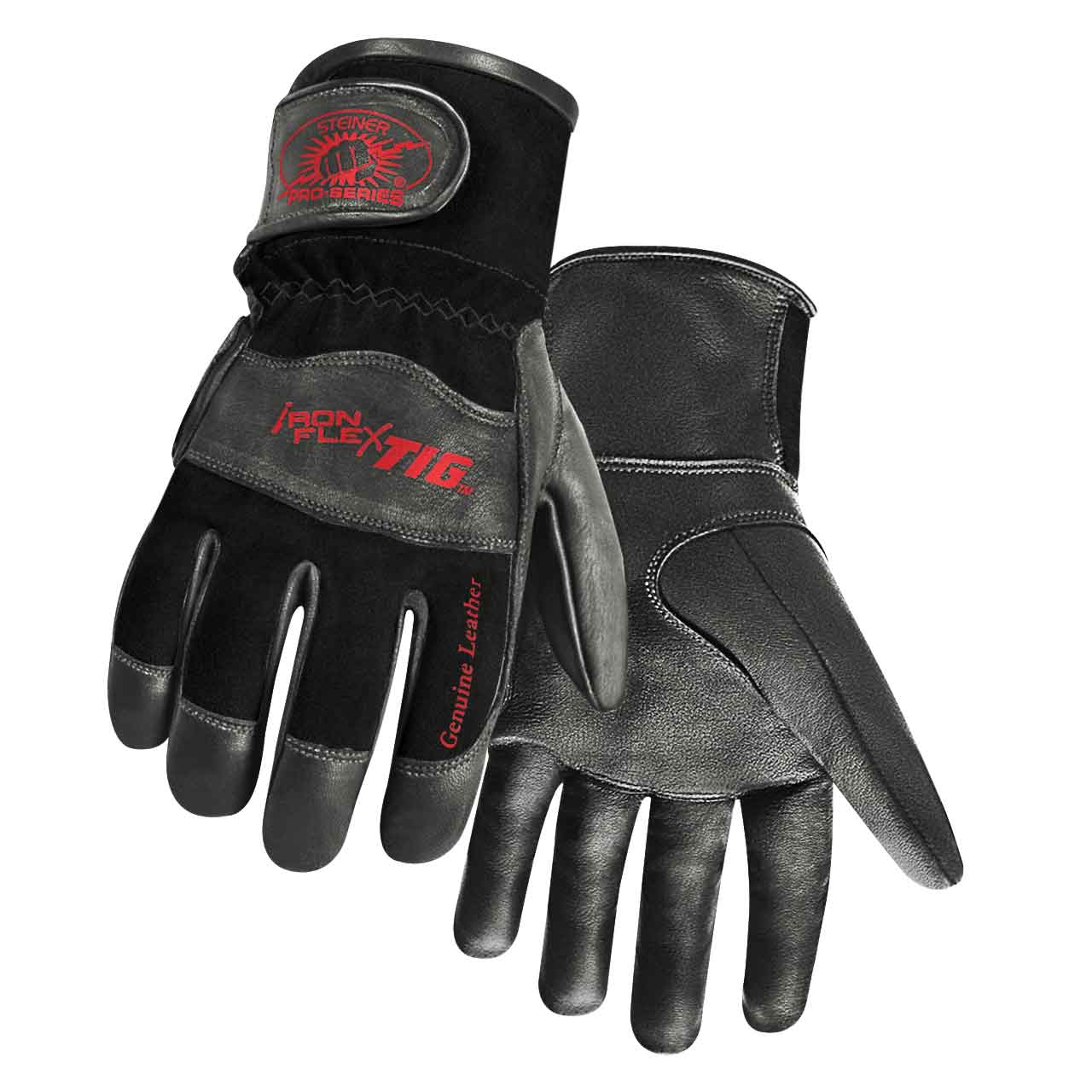 Steiner 0265 Pro-Series IronFlex TIG Premium Kidskin TIG Welding Gloves, Reverse Kidskin Back, Adjustable Cuff, Medium