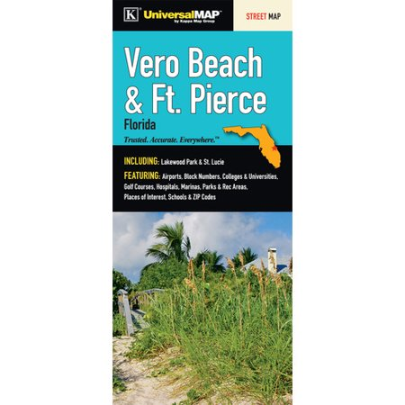 Universal Map Verso Beach Ft  Pierce Fold Map  Set Of 2