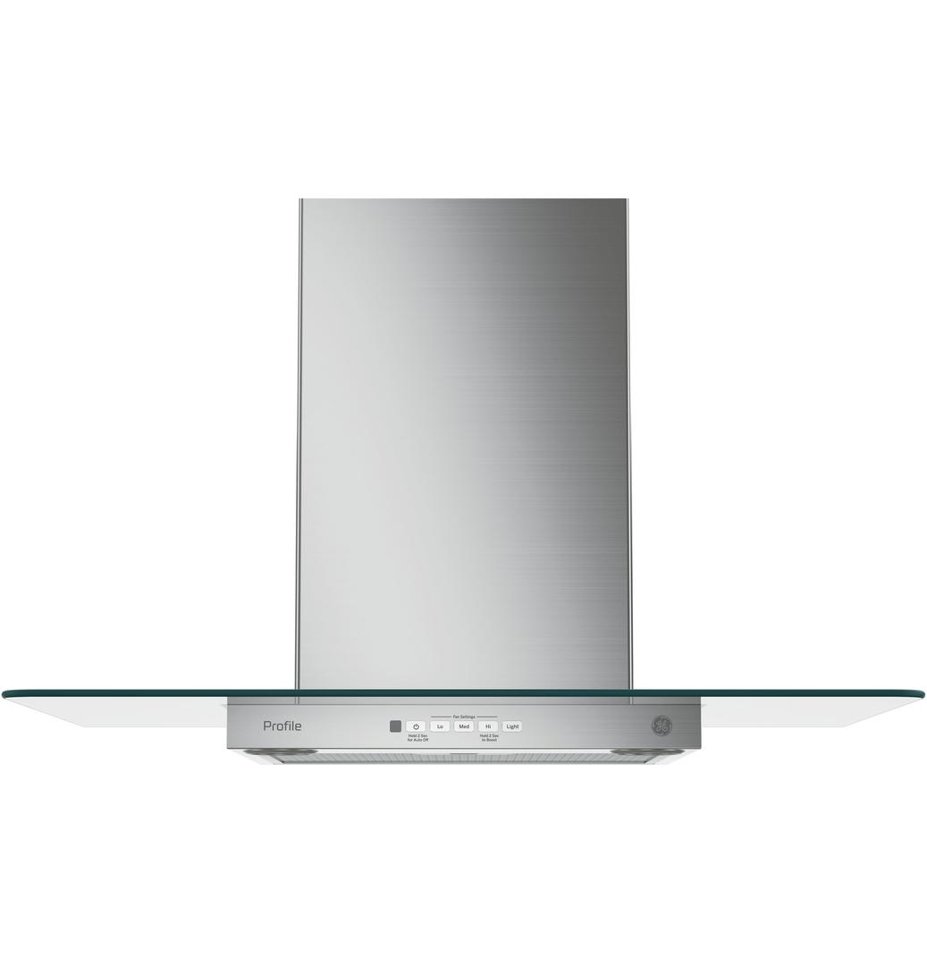 GE PVW7301SJSS 30 Wall Mount Glass Canopy Chimney Hood wi...