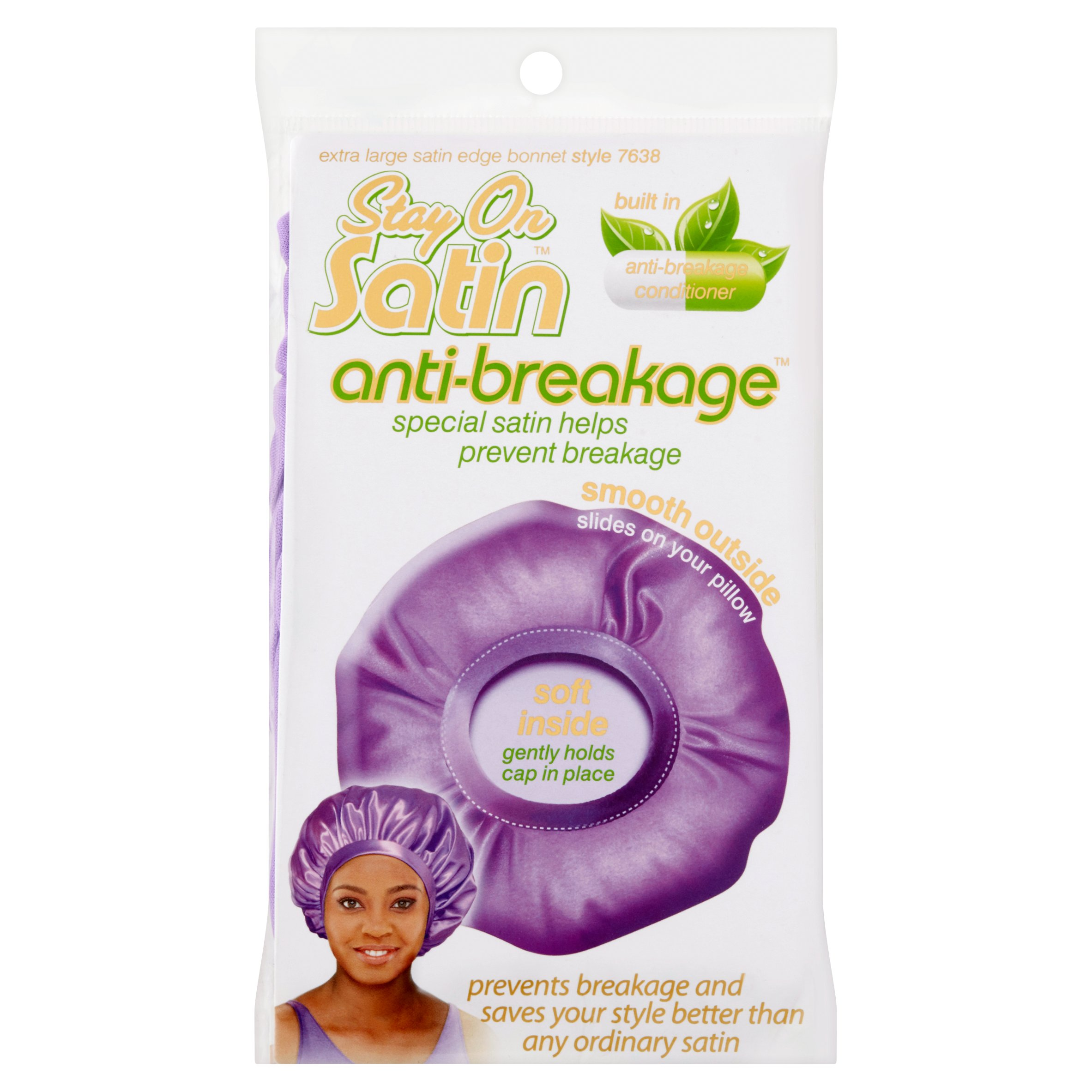 Stay on Satin Anti-Breakage Extra Large Satin Edge Bonnet Style 7638
