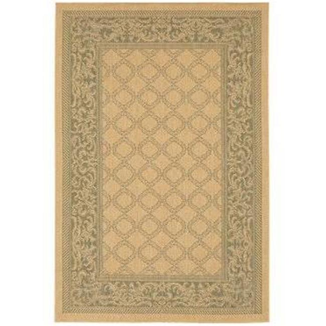 Couristan 10165016053076T 5 ft. 3 in. x 7 ft. 6 in. Recife Garden Lattice Rug - Natural & Green - image 1 of 1