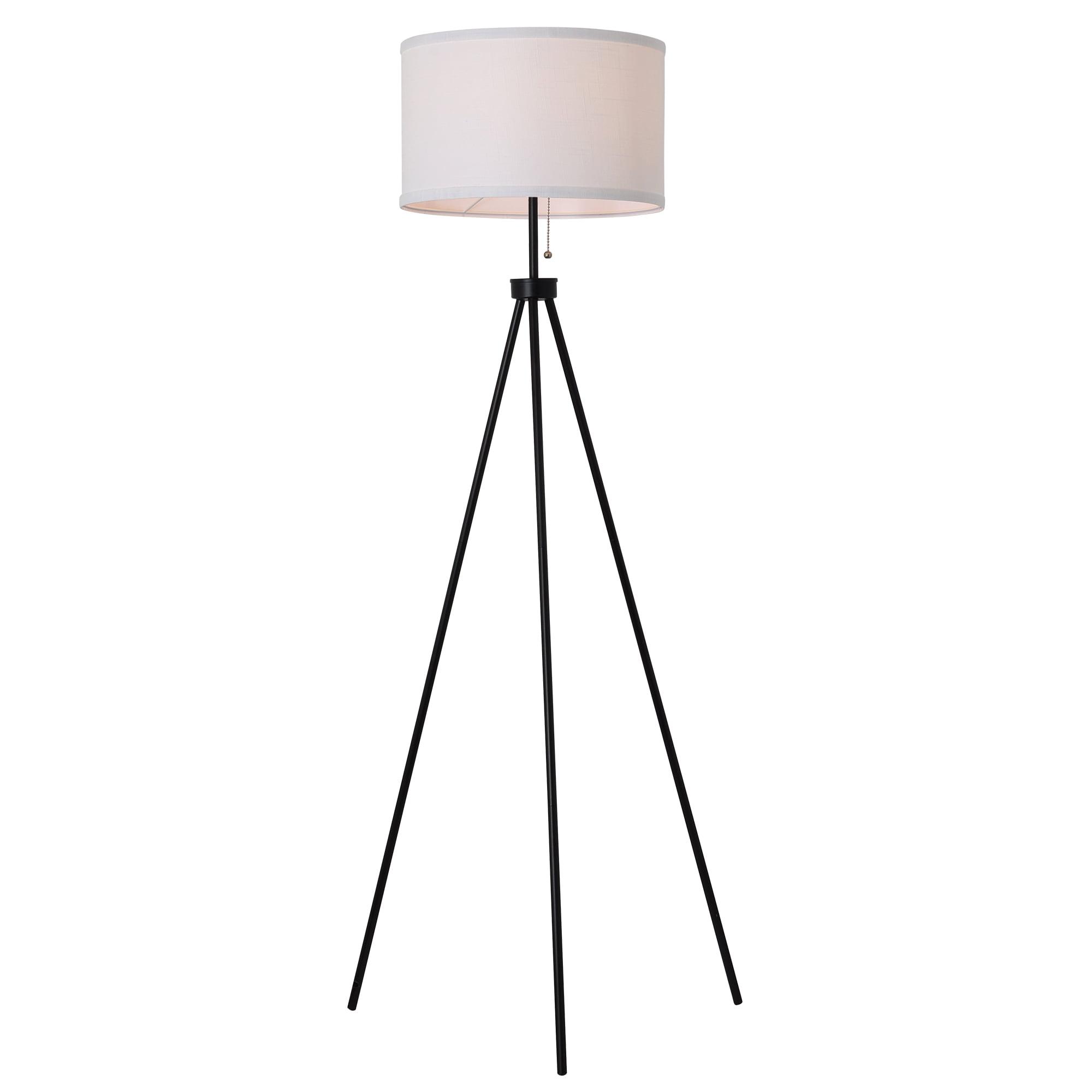 Mainstays 58 Metal Tripod Floor Lamp Black Walmart Com